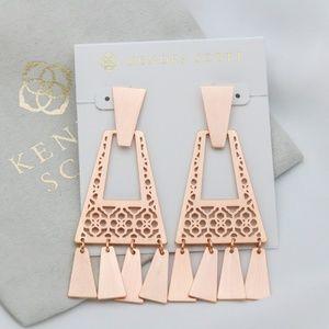 Kendra Scott Kase Fringe Earrings In Rose Gold